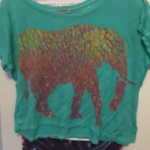 PACSUN Workshop Elephant Crop Top